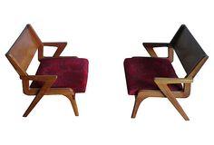 Mid-Century Modern Z-Style Chairs, Pair on OneKingsLane.com