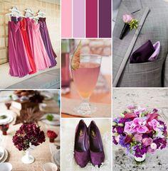 pink and shades of purple fall wedding color trends 2014 #pinkweddingideas #weddingcolors #elegantweddinginvites