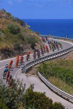 100th Tour of Italy 2017 / Stage 4  Landscape / Peloton / Mediterranean Sea / Cefalu EtnaRifSapienza 1982m / Giro /