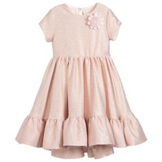 Fendi Girls Pink Glitter Dress at Childrensalon.com