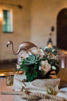 Nautical Table Centerpiece - Florals Elegant Designs Floral Art Studio - Elegant Nautical Powel Crosley Estate Wedding in Brandenton, FL - Photo by Rising Lotus Photography - click pin for more - www.orangeblossombride.com