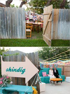 backyard wedding ideas and the cutest sign