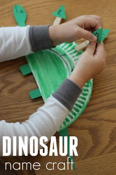 Toddler Approved!: Paper Plate Dinosaur Name Craft