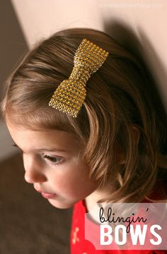 My Sister's Suitcase: How to Make Blingin' Hair Bows for Girls
