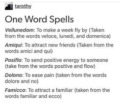 One word spells really good for fitting in a chapter – Candle Making Witch Spell Book, Witchcraft Spell Books, Magick Spells, Fairy Spells, Healing Spells, Wicca Witchcraft, Love Spells, Witchcraft Spells For Beginners, Grimoire Book