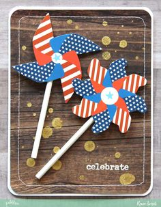 Happy 4th of July Cards by @reneezwirek using the America the Beautiful collection by @pebblesinc #sponsored
