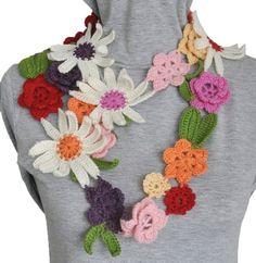 crochet flowers @Af's 16/4/13