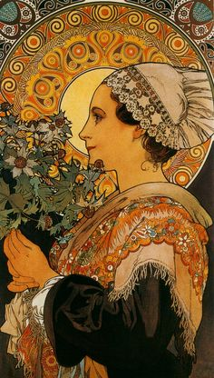 """Thistle From The Sands"" 1902, by Alphonse Mucha; Normande"