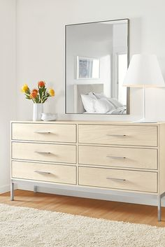 Room & Board - Alden Six-Drawer Dresser Mirrored Bedroom Furniture, Entryway Furniture, New Furniture, Rustic Furniture, Living Room Furniture, Furniture Stores, Furniture Ideas, Inexpensive Furniture, Furniture Websites
