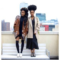 TK Wonder & Cipriana Quann Afro Punk Fashion, Star Fashion, Womens Fashion, Quann Sisters, Black Girl Swag, Mario, Celebrity Style Inspiration, Colorful Fashion, Well Dressed