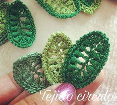 Nuevos motivos para mi  unas hermosas hojas   #crochet #ganchillo #crochetirlandes #youtube #cordoba #irishlace #irishcrochet