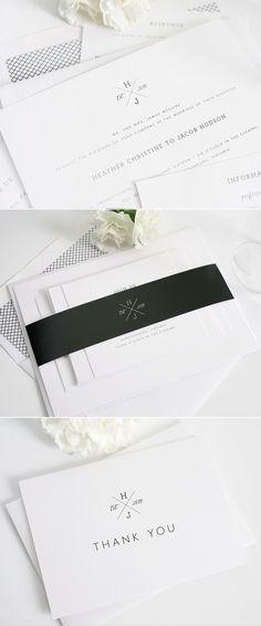 Monogrammed wedding invitations from Shine Wedding Invitations. http://www.shineweddinginvitations.com/wedding-invitations/cross-monogram-wedding-invitations