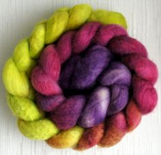 BFL Wool Roving  Hand Painted Felting or by FashionTouchSupplies, $15.99