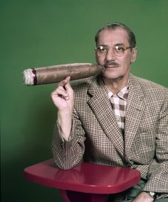 """You Bet Your Life"" Groucho Marx. Photo by Herb Ball, NBC. by michaeldonovan22 on Flickr."