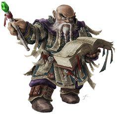 Dwarf Loremaster - Pathfinder PFRPG DND D&D d20 fantasy