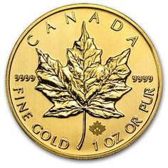 2013 1OZ Canadian Gold Maple Leaf Coin .9999 fine CANADIAN_GOLD_MAPLE_COIN_1OZ_2013 - $2019.78