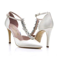 4d3b88aa660 Sahara Floral Ivory · Ivory SilkSilk SatinFloral HeelsPink KidsLeather  FlowersColorful ShoesNatural LeatherHarrodsWedding Shoes. Harriet Wilde ...