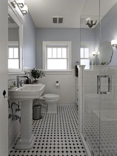 Christa Pirl Interiors: My Design Projects: Yalecrest Arts & Crafts house renovation, lovely black and white.