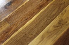 """Wide Plank Walnut Flooring - Available in widths up to 9"""" - Beautiful darker chocolate brown tones mixed with the lighter sapwood content."""