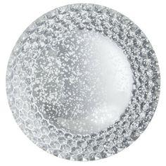 Threshold Glass Platter Silver  BEAUTIFUL $15.99