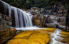 Golden Falls by DaniloFaria. Please Like http://fb.me/go4photos and Follow @go4fotos Thank You. :-)