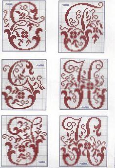 Brilliant Cross Stitch Embroidery Tips Ideas. Mesmerizing Cross Stitch Embroidery Tips Ideas. Monogram Cross Stitch, Cross Stitch Alphabet Patterns, Embroidery Alphabet, Cross Stitch Love, Cross Stitch Samplers, Cross Stitch Charts, Cross Stitch Designs, Cross Stitching, Cross Stitch Embroidery