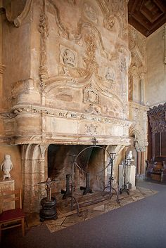 Grand Fireplace, Hearst Castle by Brendon Perkins - I would want something huge and ornate like this for the biggest fireplace in the house
