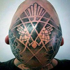 100 Head Tattoos For Men - Masculine Ink Design Ideas Bald Head Tattoo, Head Tattoos, I Tattoo, Tattoo Guide, Kopf Tattoo, Straight Razor Shaving, Skull Design, Lettering Design, Tattoos For Guys