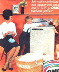 Mainos: Ignis-pesukone ja Omo/1964