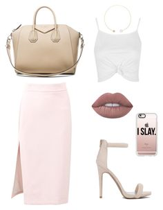 """Untitled #90"" by danielaprzhrtd on Polyvore featuring MSGM, Topshop, Givenchy, Lime Crime, Casetify and Sophie Bille Brahe"