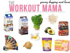grocery shopping must haves #nutrition #postpartum #weightloss