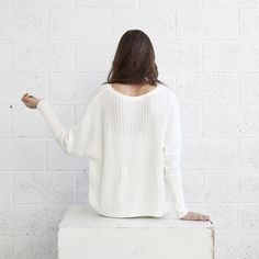 Winter fashion White Braided sweaterWhite sweater by naftul