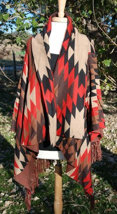 "Tasha Polizzi ""Hippie"" aztec southwestern fringe sweater @ Legendary Western"