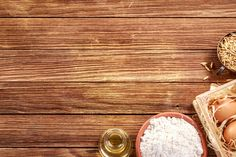 Food Poster Design, Food Design, Image Paper, Food Backgrounds, Wooden Background, Brown Wood, Top View, Baking, Boards
