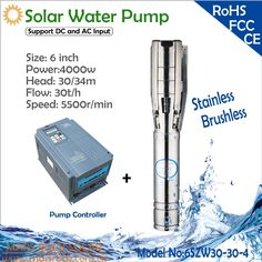 961.00$  Buy now - http://alix1l.worldwells.pw/go.php?t=1000001991581 - 4000W AC380 DC530 6inch deep well solar water pump with  permanent magnet synchronous motor flow 30T/H head 30m for irrigation