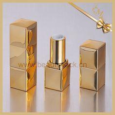 shinning golden square lipstick packaging