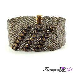 Bransoletka Beaded Elegance - Rainbow Black Diamond - Beaded Elegance / Bransoletki - Tarragon Art - stylowa biżuteria artystyczna