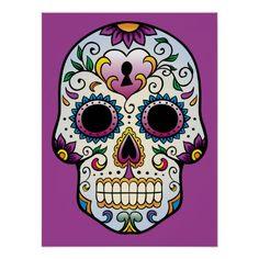 Mexican Sugar Skull Self Adhesive Vinyl Sticker Mexican Skull Tattoos, Mexican Skulls, Sugar Scull, Sugar Skull Art, Caveira Mexicana Tattoo, Mexico Day Of The Dead, Catrina Tattoo, Paar Tattoos, Totenkopf Tattoos