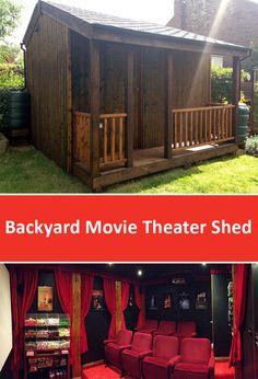Backyard Movie Theater Shed Designed by Torii Cinema Co.
