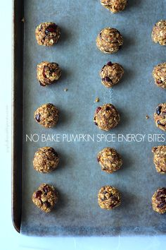 A healthy nutrient packed snack filled with fall flavors, No Bake Pumpkin Spice Energy Bites. | gluten-free when using certified gluten-free oats