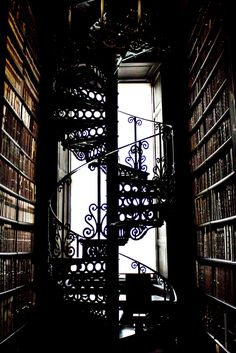 Staircase at the Triny College Library in Dublin