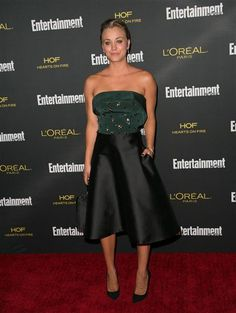 Kaley Cuoco-Sweeting attends the 2014 Entertainment Weekly pre-Emmy party at Fig & Olive in Los Angeles on Aug. 23, 2014.