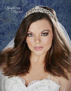 Elegant Crystal and Rhinestone Symphony Bridal Wedding Tiara 7931CR - Affordable Elegance Bridal -