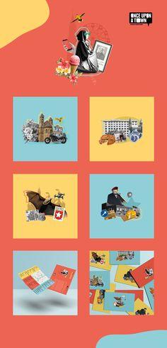 Gemaakte huisstijl voor Once Upon a Town. Een verhalen vertel festival in en over Maastricht Studio, Brand Identity, Playing Cards, Movies, Movie Posters, Legends, Film Poster, Films, Popcorn Posters