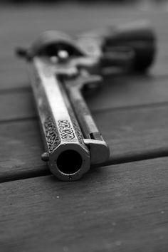 Engraved Revolver