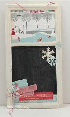 Holiday Style chalkboard