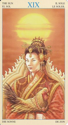 Amaterasu in Universal Goddess Tarot by Maria Caratti&Antonella Platano