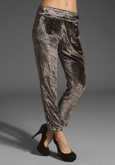 holy moly, Velvet leopard print trousers (brand: Myne)