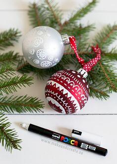 Måla julgranskulor - Pysseltips - Make & Create