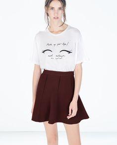 Imagem 1 de T-SHIRT C/ MENSAGEM da Zara